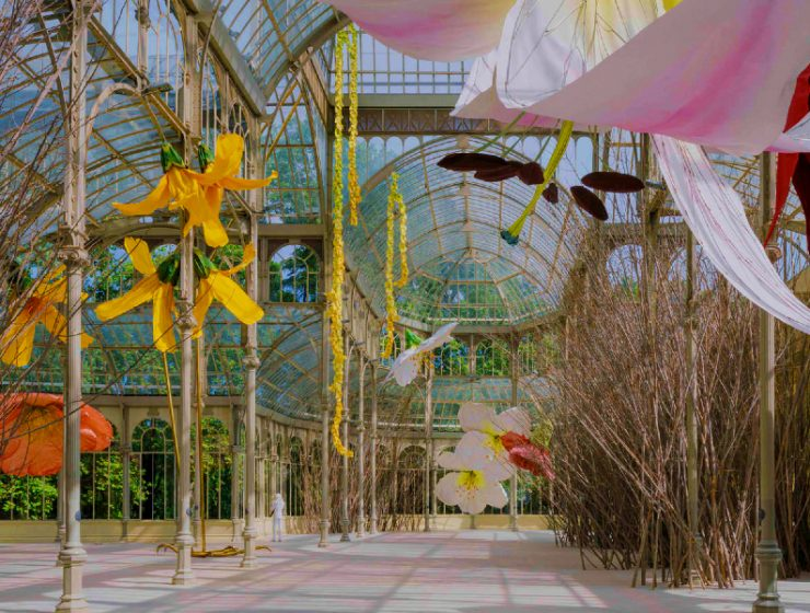 petrit halilaj Petrit Halilaj Turns Madrid's Palacio de Cristal Into A Flowery Field feature image 2020 09 15T115811 homepage Homepage feature image 2020 09 15T115811