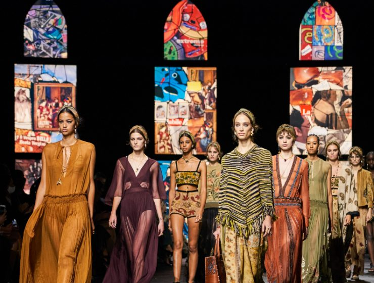 dior Collages Meet Stained Glass In Dior's Runway: References To Fine Art feature image 2020 10 15T115420