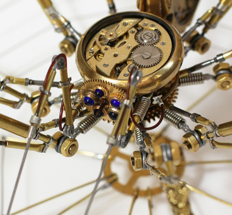 Bizarre Modern Art Creations: Steampunk Spiders Made With Watches modern art Bizarre Modern Art Creations: Steampunk Spiders Made With Watches Bizarre Modern Art Creations Steampunk Spiders Made With Watches 11