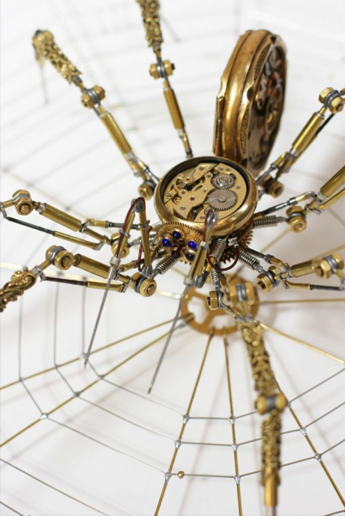 Bizarre Modern Art Creations: Steampunk Spiders Made With Watches modern art Bizarre Modern Art Creations: Steampunk Spiders Made With Watches Bizarre Modern Art Creations Steampunk Spiders Made With Watches 12 685x1024