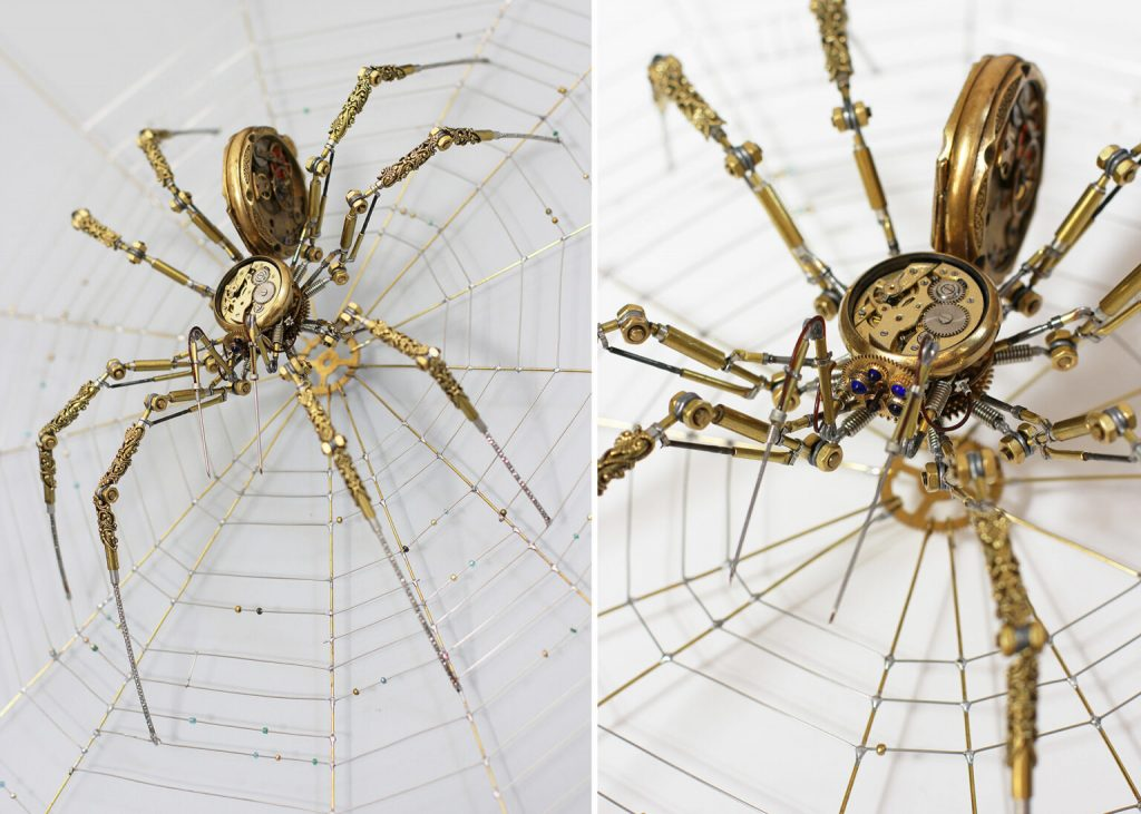 Bizarre Modern Art Creations: Steampunk Spiders Made With Watches modern art Bizarre Modern Art Creations: Steampunk Spiders Made With Watches Bizarre Modern Art Creations Steampunk Spiders Made With Watches 5 1024x731