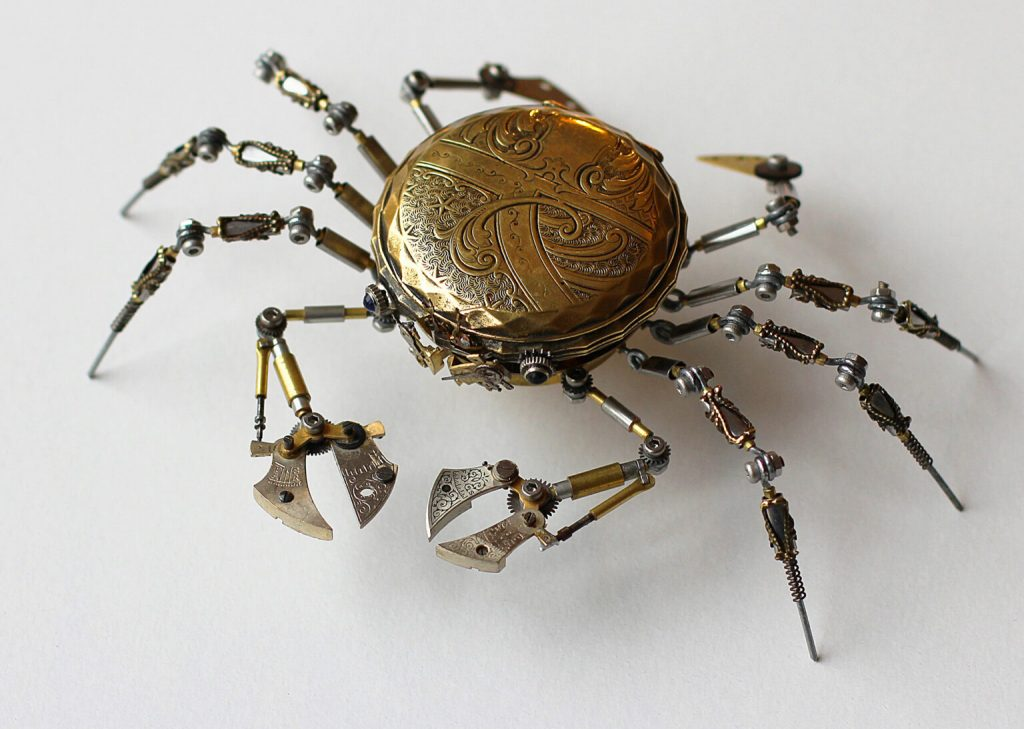 Bizarre Modern Art Creations: Steampunk Spiders Made With Watches modern art Bizarre Modern Art Creations: Steampunk Spiders Made With Watches Bizarre Modern Art Creations Steampunk Spiders Made With Watches 7 1024x729