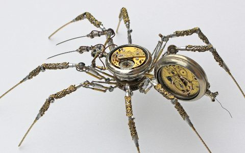 modern art Bizarre Modern Art Creations: Steampunk Spiders Made With Watches feature image 2020 11 19T145247