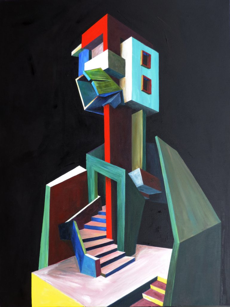 Architecture and Bold Geometry In Patrick Akpojotor's Cubist Portraits cubist portrait Architecture and Bold Geometry In Patrick Akpojotor's Cubist Portraits Patrick Akpojotor Smo Contemporary Self portriat Impression of place Acrylic on canvas 48 X 36 inches 2019 770x1024 1