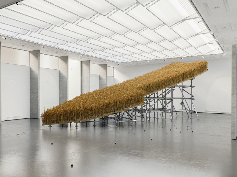 """""""French Exit"""", Tadao Cern Ponders Human Nature By A Field Of Dry Grass tadao cern """"French Exit"""", Tadao Cern Ponders Human Nature By A Field Of Dry Grass cern 5 1"""