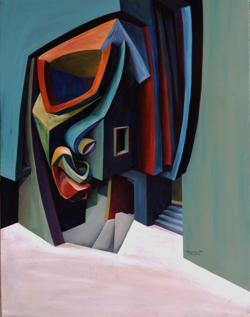 Architecture and Bold Geometry In Patrick Akpojotor's Cubist Portraits cubist portrait Architecture and Bold Geometry In Patrick Akpojotor's Cubist Portraits patrick akpojotor face on the street acrylic on canvas 4smo contemporary artskop 807x1024 1