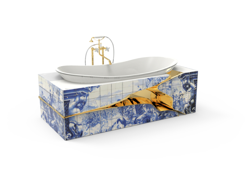 Hand-Painted Art Furniture That Stands Out In The Design World art furniture Hand-Painted Art Furniture That Standout In The Design World HERITAGE BATHTUB WHITE 2 1 1