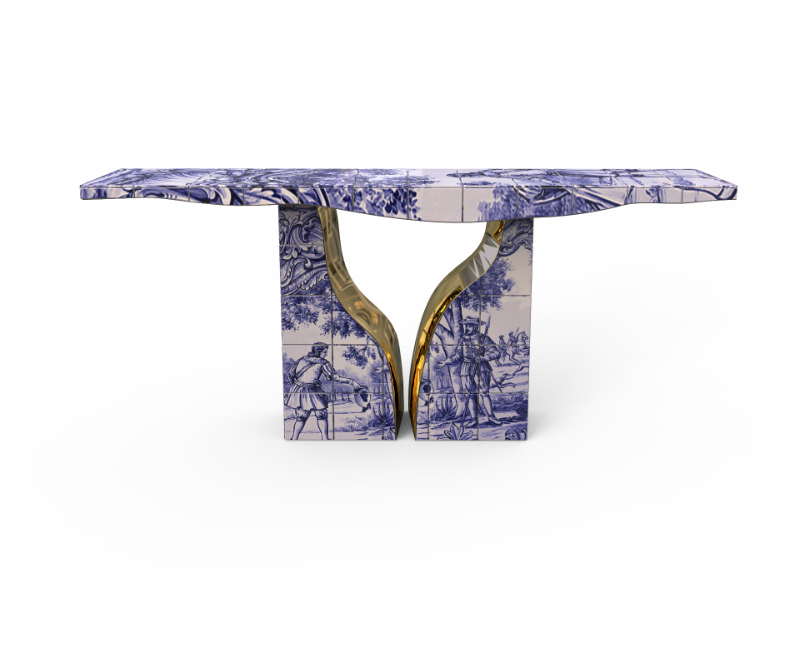 Hand-Painted Art Furniture That Stands Out In The Design World art furniture Hand-Painted Art Furniture That Standout In The Design World lapiaz tiles console 01 1