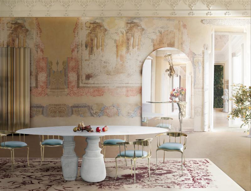Splendid Marble Furniture For An Interior Design Out Of This World marble furniture Splendid Marble Furniture For An Interior Design Out Of This World pietra dining table boca do lobo 1