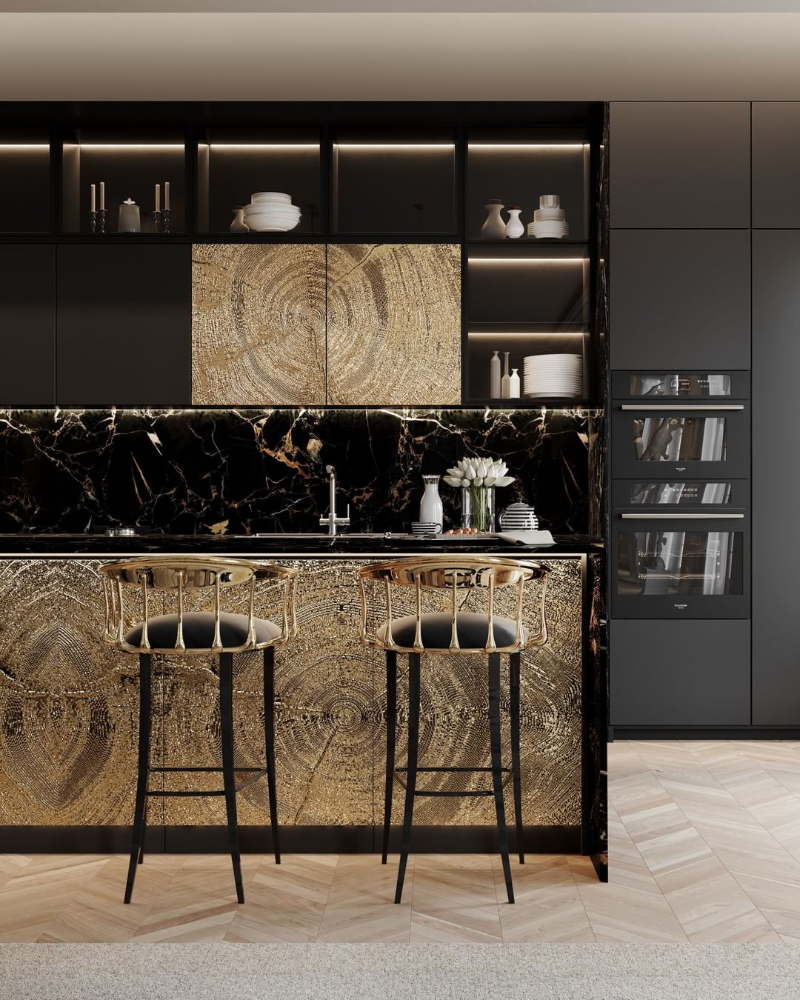 modern dining room Give Your Modern Dining Room An Artsy Aesthetic bl custom kitchen 2 1