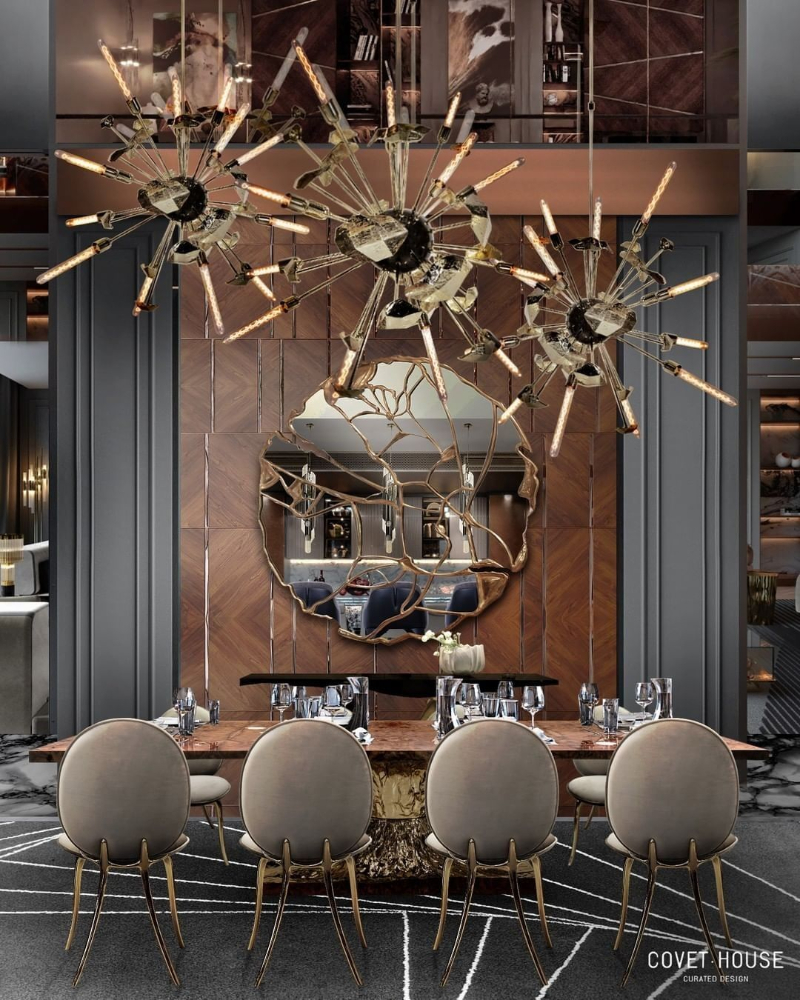 modern dining room Give Your Modern Dining Room An Artsy Aesthetic bl dark dining room 1