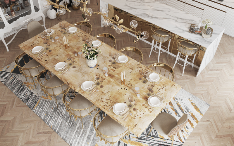 modern dining room Give Your Modern Dining Room An Artsy Aesthetic bl modern dining room ideas 3