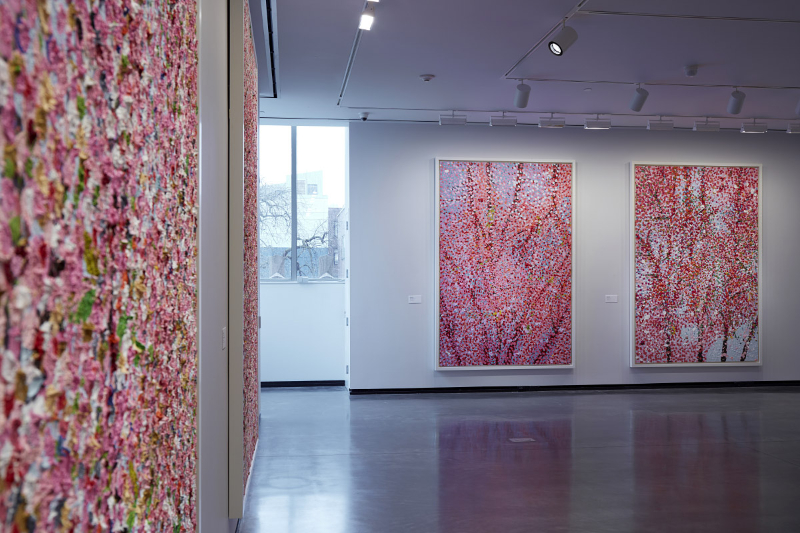 """Damien Hirst's """"Cherry Blossoms"""" Art Exhibition Takes Place In Paris"""