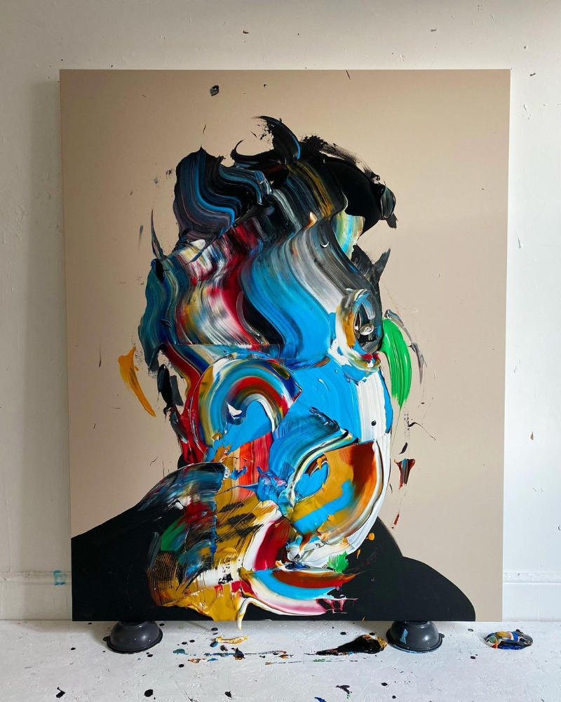 Bright Colors In Eric Haach's Portraits And Abstract Paintings