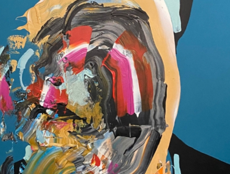 Bright Colors In Eric Haach's Portraits And Abstract Paintings abstract painting Bright Colors In Eric Haacht's Portraits And Abstract Paintings FT ILY 1 740x560