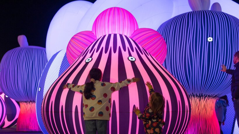 Interactive Art And Mysterious Characters At A Public Art Installation